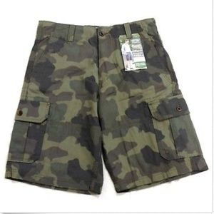Levis Shorts Camo Green Gray 6 Pockets Camouflage
